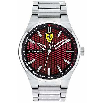 Scuderia Ferrari Mens Speciale Stainless Steel Bracelet Red Dial 0830357 Watch