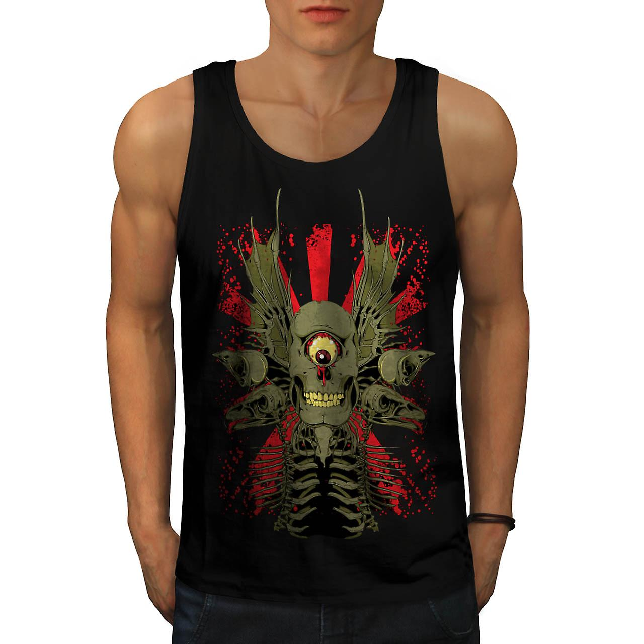 Zombie Monster Horror Men Black Tank Top | Wellcoda
