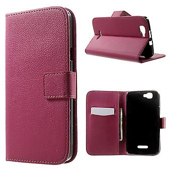 Type PU leather wallet cover for Kiritkumar Rainbow (Pink)