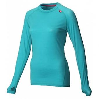 AT/C Merino Long Sleeve Teal/Pink Womens