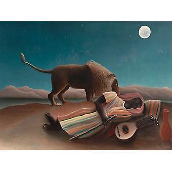 La Boh meins Endormie Poster Print von Henri Rousseau