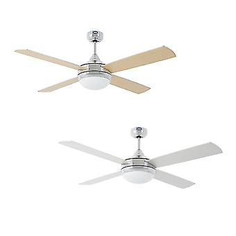 "Faro ceiling fan Icaria Aluminium 132 cm / 52"" with lighting"