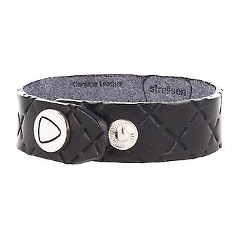 Strellson jewelry leather bracelet length 25 cm Navy