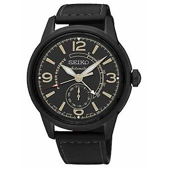 Seiko Mens Presage Automatic With Power Reserve Black SSA339J1 Watch