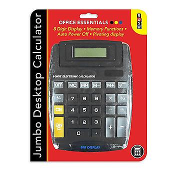 Desktop Calculator 8 Digit Display Memory Functions Jumbo Sized Office Essential