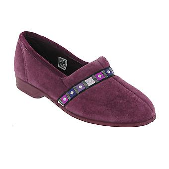 Mirak Braidy Classic Ladies Slippers Textile Lining Slip On Flats Footwear Shoes