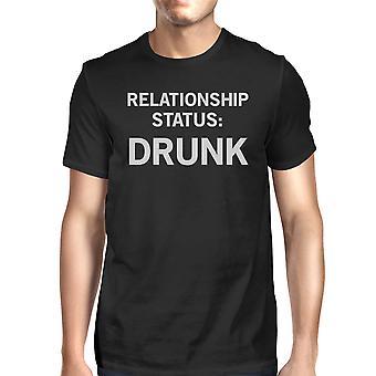 Nero Casual t-shirt divertenti dicendo rapporto stato-uomo