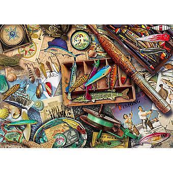Vintage saltvands fiskeri plakat Print af Aimee Stewart
