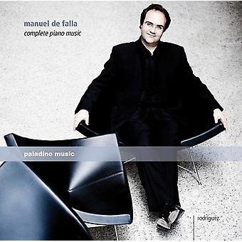 De Falla / Rodriguez, Juan Carlos - De Falla / Rodriguez, Juan Carlos: komplet klavermusik [CD] USA import