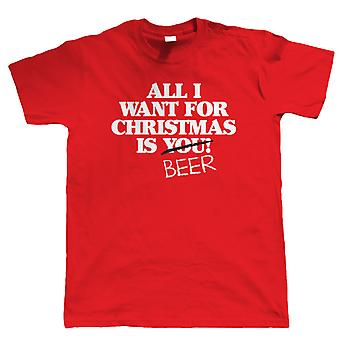 Vectorbomb, All I Want For Christmas Is Beer, Mens Funny T-Shirt (S to 5XL)