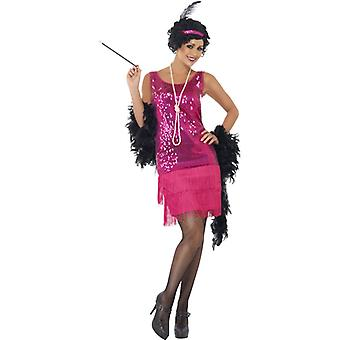 20's Charleston dress pink ladies Gatsby 20ies costume