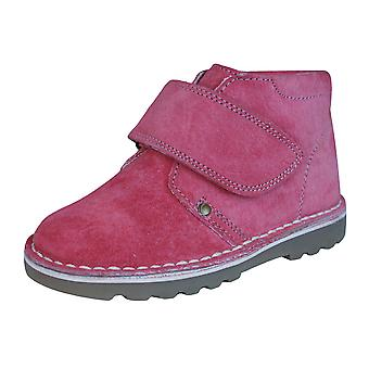 Hush Puppies Reve Girls Suede Leather Desert  Boots / Shoes - Pink