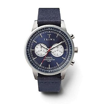 Triwa Unisex Watch wristwatch NEST108-CL060712 blue steel Nevil leather