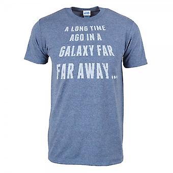 Star Wars Mens Star Wars Far Far Away T Shirt Heather Blue