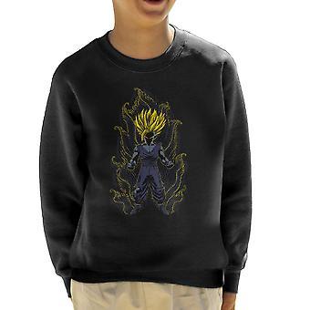 Post Impressionist Young Trunks Dragon Ball Super Kid's Sweatshirt