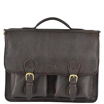 Ashwood Leather Briefcase 8190 Brown