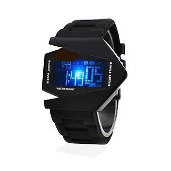 Boolavard® TM stalen achterklep Fighter horloges B-2 stealth bomber vorm Cool Fashion sporthorloge voor LED Watch Gift
