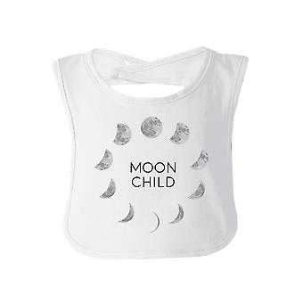 Moon Child White Cute Halloween Baby Bib Cotton New Parents Gifts