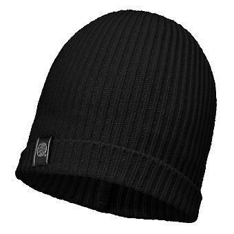 Buff Basic Knitted Beanie - Black