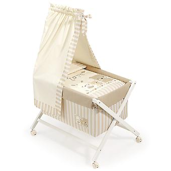Interbaby Natural Crib canopied Model Love Beige