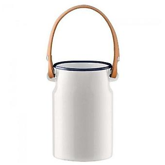 Lsa Utility Utensil Pot & Leather Handle Milk white H29cm *