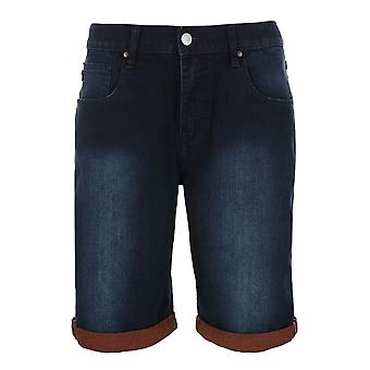 Sweet SKTBS slim two tone trousers mens jeans short blue for summer