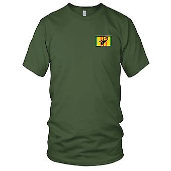 AH-1G Dust Off Air Ambulance Silhouette On Vietnam Service Ribbon Embroidered Patch - Mens T Shirt