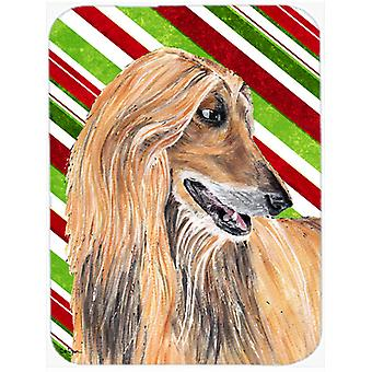 Afghan Hound Candy Cane Holiday Christmas Mouse Pad, Hot Pad or Trivet