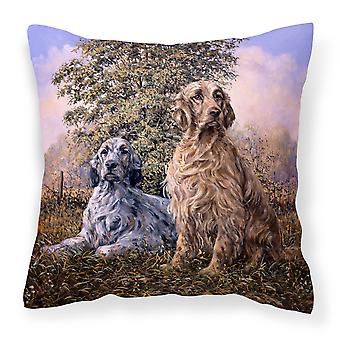 Setters by Michael Herring Canvas Decorative Pillow