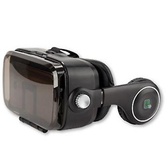 4smarts spectator sound universal VR goggles with headset - black