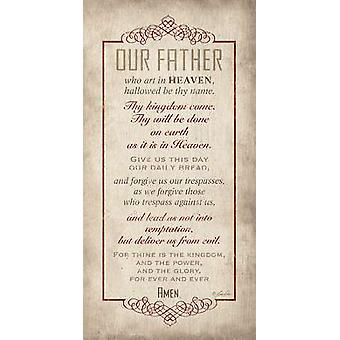 The Lords Prayer Poster Print by Lauren Rader (8 x 16)