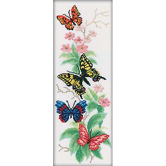 Butterflies And Flowers Counted Cross Stitch Kit-6.25
