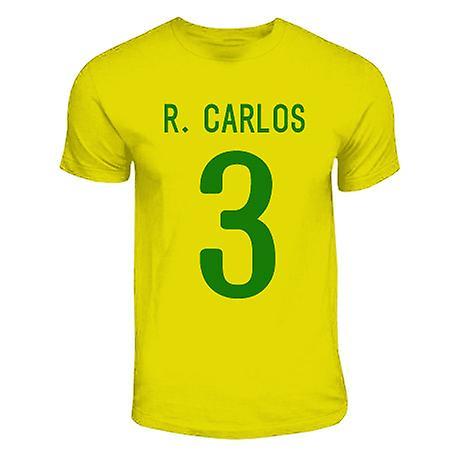 Roberto Carlos Brasilien hjälte T-shirt (gul)