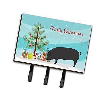 Devon store svarte grisen Christmas leiekontrakten eller nøkkelholder