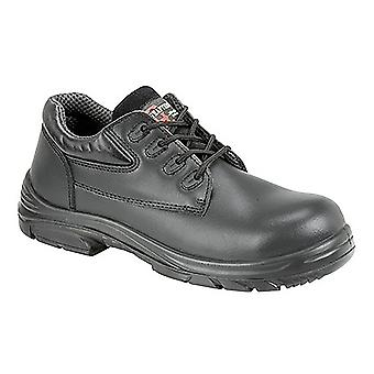 Grafter Mens Wide Fitting Lace Up Safety Shoes