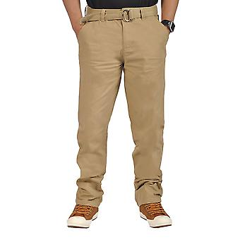 Mens Relaxed fit Chino Pants Light Coffee