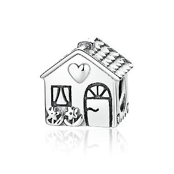 Sterling silver charm House with heart PAS341