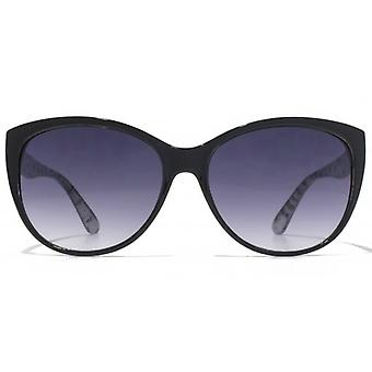 American Freshman Cateye Sunglasses In Black On White Print