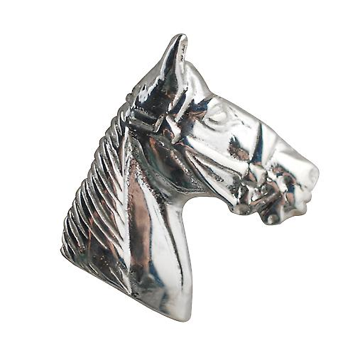 Silver 15x15mm Horse Head Pendant