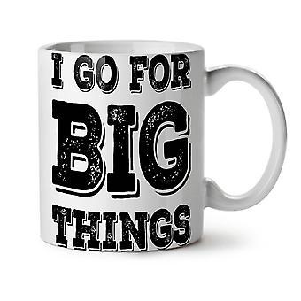 Vaya gran motivación nuevo té blanco taza de café de cerámica 11 oz | Wellcoda