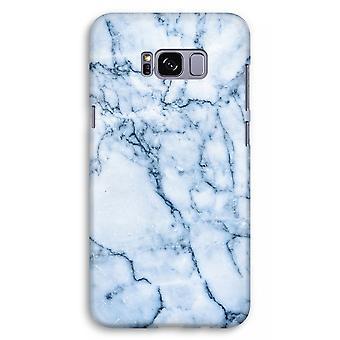 Samsung Galaxy S8 Plus Full Print Case (Glossy) - Blue marble
