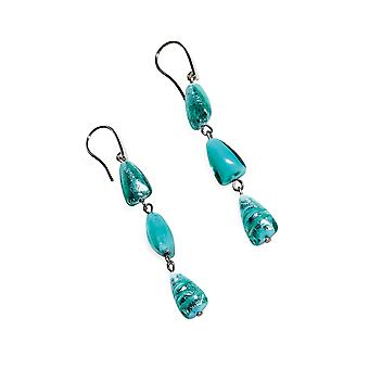 Antica Murrina women's OR481A59VERDEMARINO steel blue earrings
