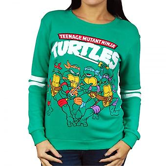 Teenage Mutant Ninja Turtles Womens Retro Teenage Mutant Ninja Turtles Sweatshirt Green