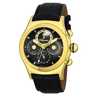 Burgmeister BM240-222 Stockton, Gents automatic watch, Analogue display - Water resistant, Stylish leather strap, Classic men's watch