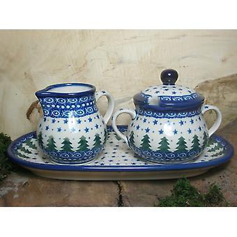 Milch und Zucker auf einem Tablett, Unikat 57 - polish pottery - BSN 15074