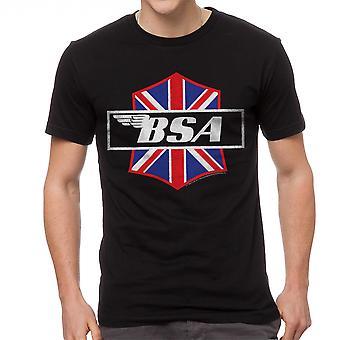 BSA Motorcycles Patch Attack Men's Black T-shirt