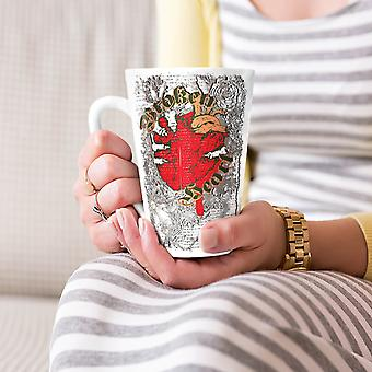 Valentine Broken Heart NEW White Tea Coffee Ceramic Latte Mug 17 oz | Wellcoda