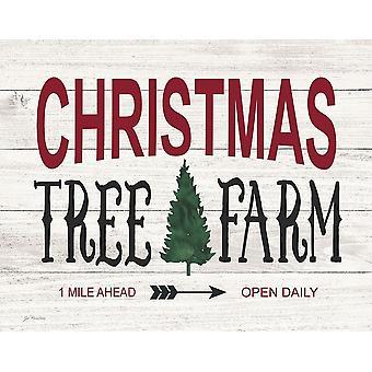 Christmas Tree Farm Poster Print by Jo Moulton