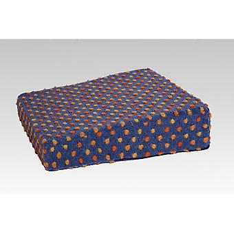Stand-up help cushion booster seat blue-coloured of 40 x 40 x 10/6 cm