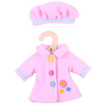 Bigjigs Toys Pink Rag Doll Coat & Hat (28cm) Clothing Outfit Dress Up